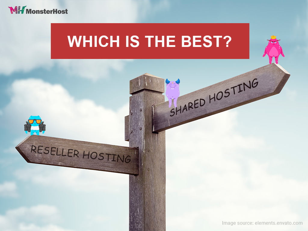 Shared vs. Reseller web hosting