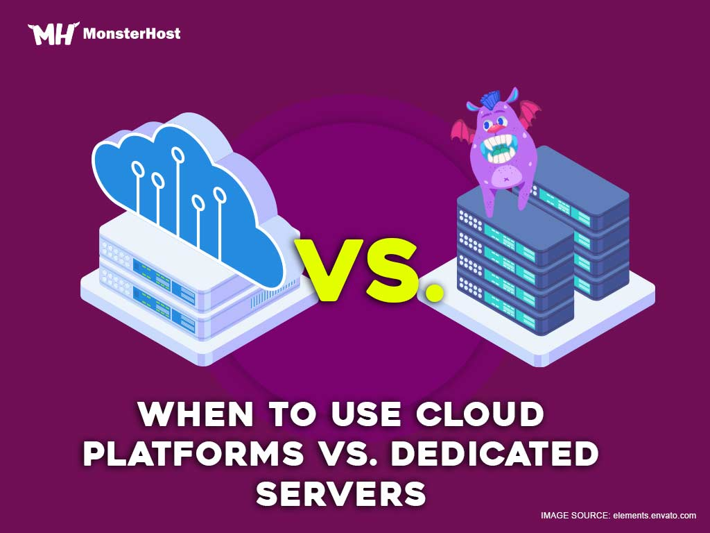 cloud platforms vs dedicated servers